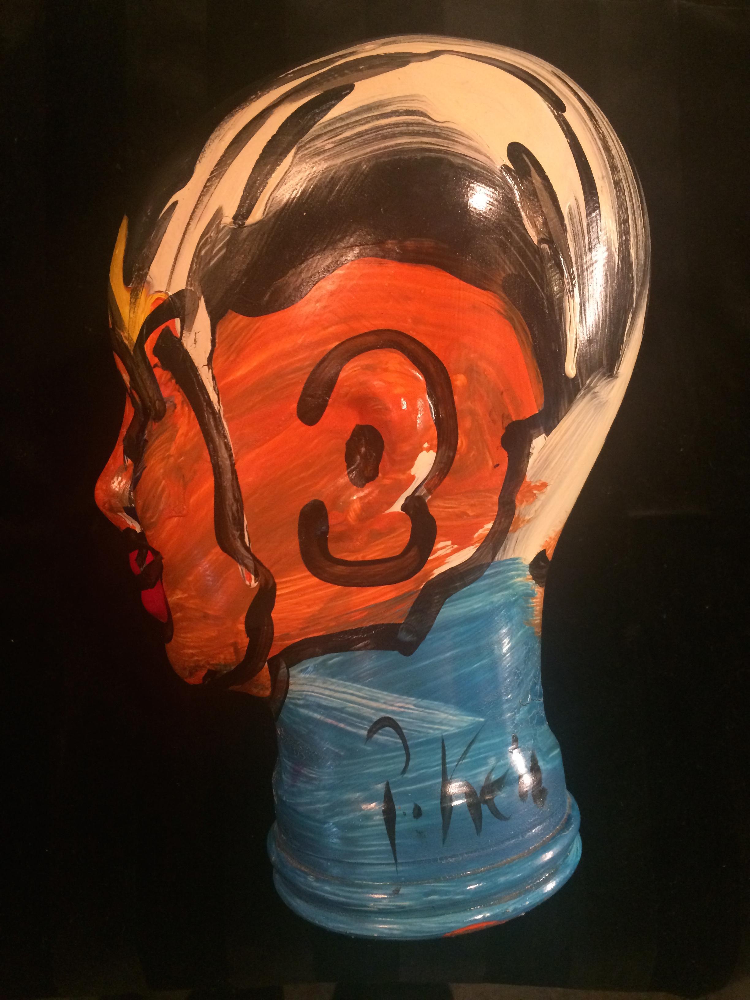 Peter Keil Painted Glass Head Worthgalleries Com