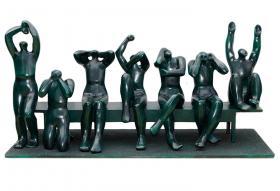 -Decisao por penalti- Sculpture  by Margarita Farre