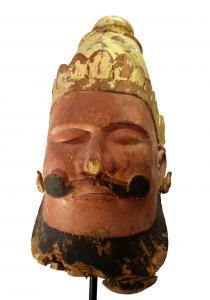 Antique Wood Carved Buddha Head