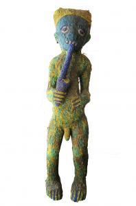 Cameroon Bamilike Tribal Beadect man