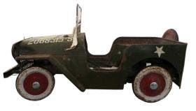 tri-ang jeep pedal car