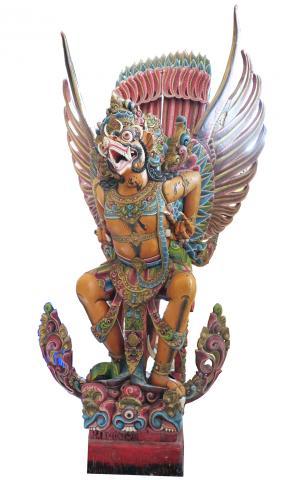 Huge Carved Wooden Garuda