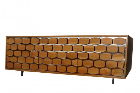 Honey Sideboard Three Doors Made in Italy