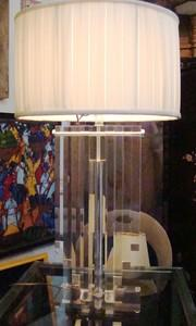 Karl Springer Manner Lucite Table Lamp