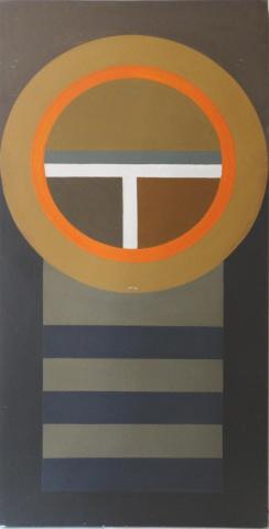 Larue Storm Hard Edge Mid Century Modern Painting