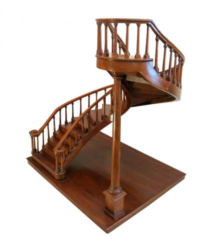 Miniature Staircase Handcrafted Mahogany