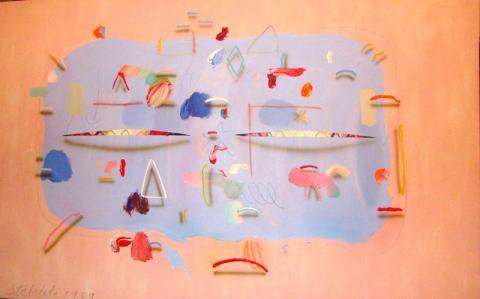 Joseph Stabolito Abstract Painting