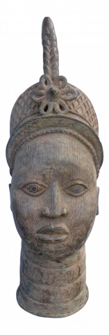 Bronze Head of an Ife Queen Mother