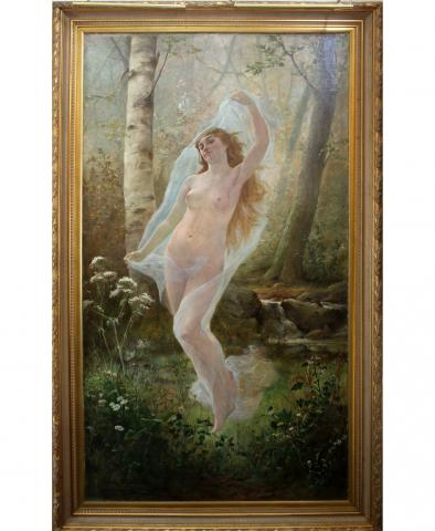 Carolus Boland Nude Boland Huge Oil Painting