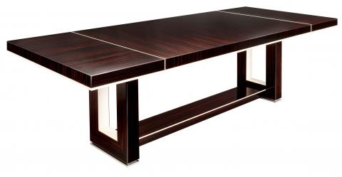 Huge Macassar Ebony Dining Table
