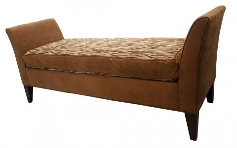Italian Leather Bench
