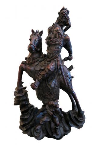 Impressive Japanese Rosewood Sculpture