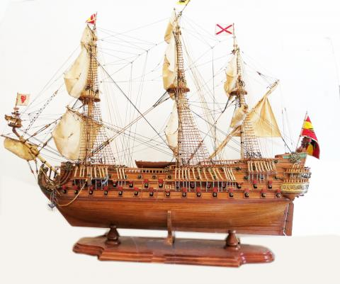 Classic Marine Ship Model of San Felipe 1690 by Mauritius