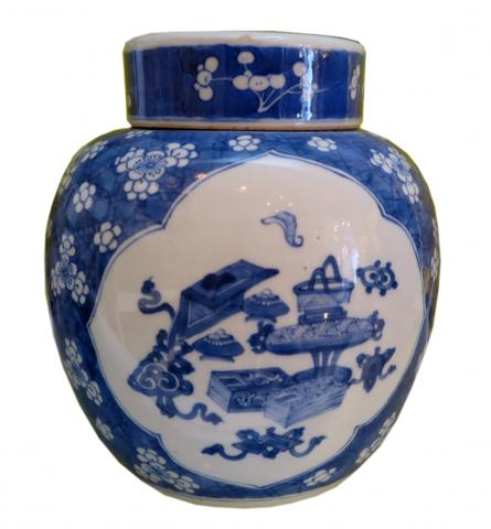 White and Blue Chinese Ceramic Vase