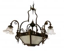 Antique Four Shades Chandelier