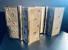 Solid bronze corner hinges old