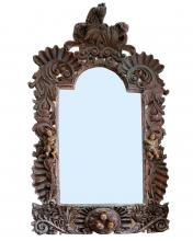 Antique Wood Carved Mirror