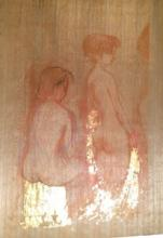 Painting with Gold of Women Figure