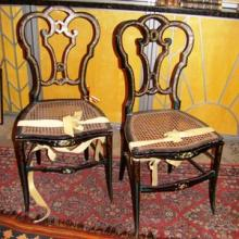 French Mother-of-Pearl Jackie O Chairs