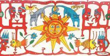 Very Large Carlos Paez Vilaro Large Colorful Tapestry