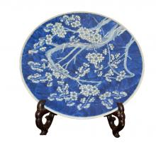Chinese Hand Painted Blue Plate