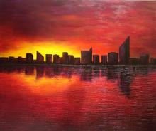 - Miami Sky - Oil on Canvas by Philson